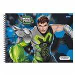 Caderno de Cartografia Max Steel 96 Folhas Jandaia 1009549