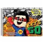 Caderno de Cartografia Pixel Kraft 60 Folhas São Domingos 1024253