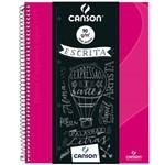 Caderno Desenho Canson Expressão e Arte Espiral CD 140 G S/P A4 040 Fls Rosa 71400266BR