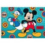 Caderno Desenho Univ Capa Dura Mickey 96fls Espiral