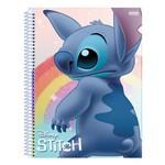 Caderno Disney Stitch - Arco-íris - 80 Folhas - São Domingos