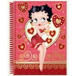 Caderno Espiral 1/4 Betty Boop Capa Dura Pequeno - 96 Folhas - Grafons