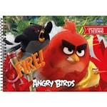 Caderno Espiral 275x200mm Cd Cartografia 96fls Angry Birds Filme Jandaia