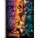 Caderno Espiral C D Universitário 1 Matéria Avengers 80 Folhas Pct C/ 04