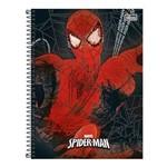 Caderno Espiral Capa Dura 1/4 96 Folhas Spider-Man Vermelho Tilibra