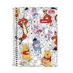 Caderno Espiral Capa Dura 1 Matéria 96 Folhas Pooh
