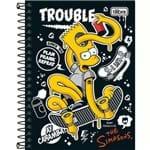 Caderno Espiral Capa Dura 10 Matérias 200 Folhas Simpsons