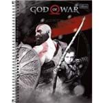 Caderno Espiral Capa Dura 10 Matérias God Of War
