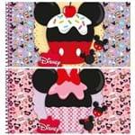 Caderno Espiral Capa Dura Cartografia 96 Folhas Disney Sweetie Minnie Mickey Jandaia