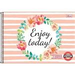 Caderno Espiral Capa Dura Cartografia e Desenho Milimetrado Pepper 80 Folhas