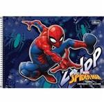 Caderno Espiral Capa Dura Cartografia e Desenho Spider-man 96 Folhas Tilibra