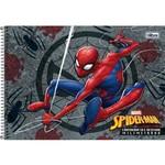 Caderno Espiral Capa Dura Cartografia Sem Seda Milimetrado Spider Man 96 Folhas Tilibra