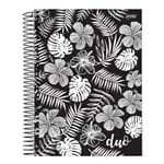 Caderno Espiral Capa Dura Universitário 1 Matéria 96 Duo Black And White Jandaia
