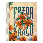 Caderno Espiral Capa Dura Universitário 1 Matéria 96 Folhas Frida Kahlo Jandaia