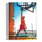 Caderno Espiral Capa Dura Universitário 12 Matérias 240 Folhas Sport Basquete Jandaia