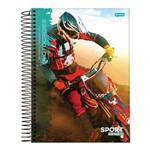 Caderno Espiral Capa Dura Universitário 12 Matérias 240 Folhas Sport Motocross Jandaia