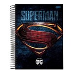 Caderno Espiral Capa Dura Universitário 10 Matérias 200 Folhas DC Superman Jandaia