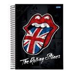 Caderno Espiral Capa Dura Universitário 10 Materias 200 Folhas Rolling Stones Jandaia