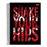 Caderno Espiral Capa Dura Universitário 10 Materias 200 Folhas Rolling Stones Shake Jandaia