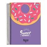 Caderno Espiral Capa Dura Universitário 10 Matérias 200 Folhas Yummy Sweet Summer Jandaia