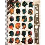 Caderno Espiral Capa Dura Universitário 1 Matéria Avengers Infinity War 80 Folhas - Sortido (Pacote com 4 Unidades)