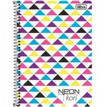 Caderno Espiral Capa Plástica 1/4 S/ PAUTA NEON KORI 96 F