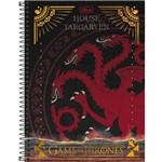 Caderno Espiral Game Of Thrones 200 Folhas - Tilibra - Bege