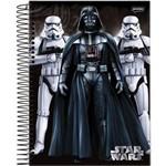 Caderno Espiral Pequeno Capa Dura Star Wars 96 Folhas com 5 Unidades Jandaia