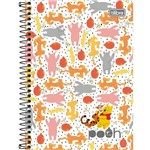 Caderno Espiral Pooh 1x1 - 96 Folhas - Tilibra
