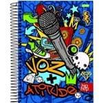 Caderno Espiral Univ Cd 1x1 96fls Hip Hop Jandaia