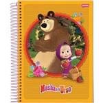 Caderno Espiral Univ Cd 1x1 96fls Masha e o Urso Jandaia