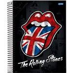Caderno Espiral Univ Cd 1x1 96fls Rolling Stones Jandaia