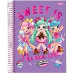 Caderno Espiral Univ Cd 1x1 96fls Shoppies Jandaia