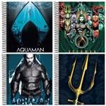 Caderno Espiral Universitário Capa Dura 1 Matéria 96 Folhas Aquaman Jandaia