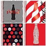 Caderno Espiral Universitário Capa Dura 1 Matéria 96 Folhas Coca Cola Trends Jandaia