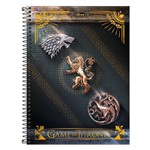 Caderno Game Of Thrones - Casas - 1 Matéria - Tilibra