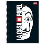 Caderno La Casa de Papel - Máscara - 1 Matéria - Tilibra