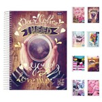 Caderno Like It Universitario Feminino 1x1 96 Folhas