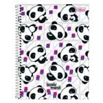 Caderno Lovely Friend - Pandas - 1 Matéria - Tilibra