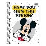 Caderno Mickey Mouse - Branco - 1 Matéria - Tilibra
