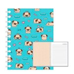 Caderno Mini Pet Redoma 192 Folhas 13x20cm