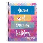 Caderno Minnie - Dream Of Summer Holiday - 160 Folhas - Tilibra