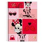 Caderno Minnie Mouse - Recortes - 10 Matérias - Tilibra