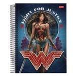 Caderno Mulher Maravilha - Fight For Justice - 10 Matérias - Jandaia