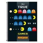 Caderno Pac Man - True Game - 1 Matéria - Tilibra