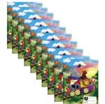Caderno Pedagógico Caligrafia Pauta Verde Brochura Capa Dura 40 Folhas Académie Kids Pct 10 Un. Tilibra