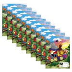 Caderno Pedagógico Quadriculado 1x1 Brochura Capa Dura 40 Folhas Académie Kids Pct 10 Un. Tilibra