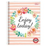 Caderno Pepper Feminino - Enjoy Today - 16 Matérias - Tilibra