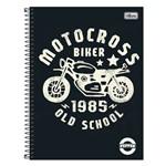 Caderno Pepper Masculino - Motocross - 80 Folhas - Tilibra