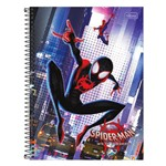 Caderno Spider Man Into The Spider-verse - Salto - 80 Folhas - Tilibra